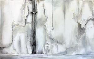 Die Wand 1 (180 x 115cm) Mischtechnik auf Leinwand